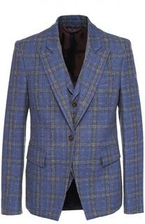 Однобортный пиджак из смеси шерсти и хлопка Vivienne Westwood