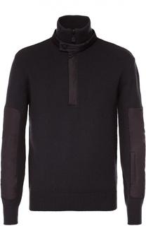 Шерстяной свитер с воротником на молнии Moncler