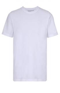 Хлопковая футболка с круглым вырезом и принтом на спине James Perse