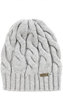 Вязаная шапка из смеси шерсти и кашемира с фактурным узором Il Trenino