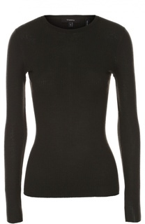 Облегающий пуловер фактурной вязки Theory