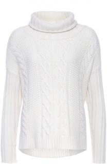 Кашемировый пуловер фактурной вязки с высоким воротником Tse