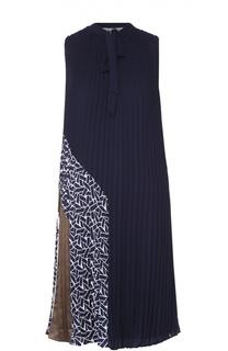Плиссированное платье прямого кроя без рукавов Diane Von Furstenberg