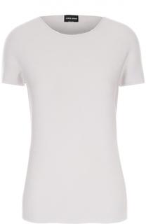 Облегающая футболка с круглым вырезом Giorgio Armani