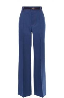 Широкие джинсы с завышенной талией и контрастной прострочкой Marc Jacobs