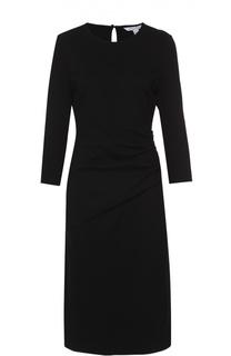 Приталенное платье с укороченным рукавом и драпировкой Diane Von Furstenberg