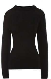Пуловер свободного кроя со спущенным рукавом и круглым вырезом DKNY