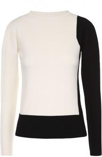 Шерстяной пуловер прямого кроя с круглым вырезом Escada Sport