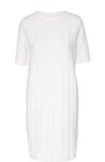 Платье фактурной вязки с удлиненным рукавом Escada Sport