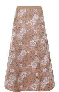 Юбка-миди А-силуэта с цветочным принтом Tak.Ori
