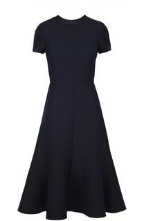 Расклешенное платье с коротким рукавом и круглым вырезом Valentino