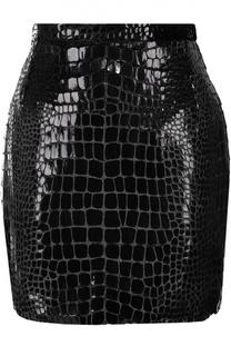 Мини-юбка с декоративной отделкой Saint Laurent