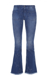 Укороченные расклешенные джинсы с бахромой Stella McCartney