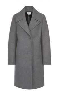Шерстяное пальто прямого кроя DKNY
