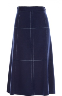 Шерстяная юбка А-силуэта с прострочкой M Missoni
