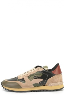 Комбинированные кроссовки Camouflage с принтом Valentino