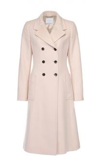 Двубортное пальто с накладными карманами HUGO