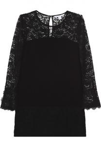 Мини-платье платье с кружевной отделкой Diane Von Furstenberg