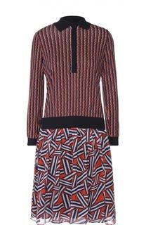 Приталенное платье-рубашка с юбкой в складку Diane Von Furstenberg