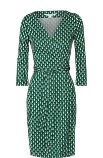 Приталенное шелковое платье с запахом Diane Von Furstenberg