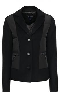 Приталенная куртка с пуховой отделкой Armani Jeans