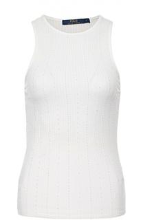 Облегающий топ фактурной вязки без рукавов Polo Ralph Lauren