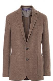 Кашемировый жакет прямого кроя с накладными карманами Ralph Lauren