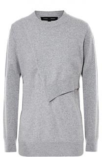 Шерстяной пуловер с декоративными вырезами Proenza Schouler