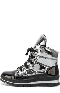 Ботинки из металлизированного текстиля на молнии Jog Dog