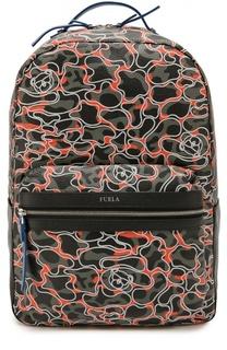Кожаный рюкзак Fenice с принтом Furla