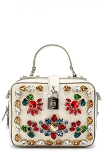 Сумка Dolce Soft с вышивкой кристаллами Dolce & Gabbana