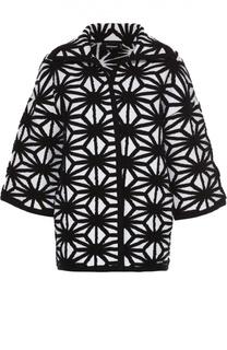 Пальто прямого кроя с укороченным рукавом и контрастным принтом Dsquared2