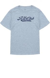 Хлопковая футболка с надписью Polo Ralph Lauren