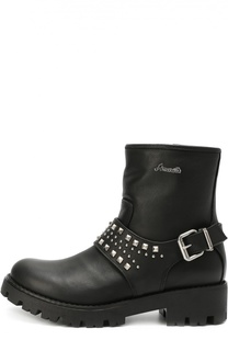 Кожаные ботинки с декоративным ремешком с заклепками Simonetta