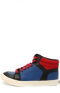 Высокие кожаные кеды Marc Jacobs