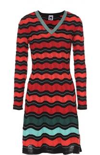 Приталенное мини-платье в контрастную полоску M Missoni