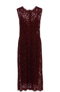Кружевное приталенное платье без рукавов Dolce & Gabbana