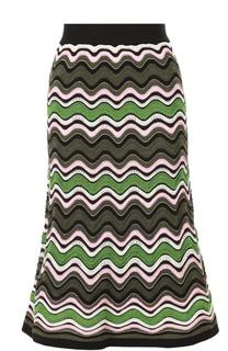 Расклешенная юбка-миди в контрастную полоску M Missoni