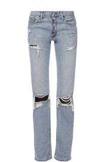 Укороченные джинсы прямого кроя с потертостями Denim&Supply by Ralph Lauren