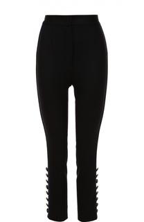 Укороченные брюки-скинни с контрастными лампасами Dolce & Gabbana