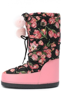 Утепленные сапоги с принтом Dolce & Gabbana