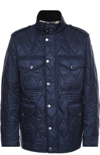 Утепленная стеганая куртка с воротником-стойкой Burberry Brit