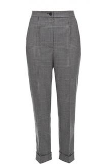 Укороченные шерстяные брюки в клетку Dolce & Gabbana