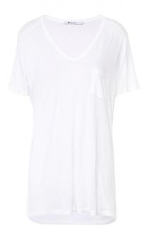Удлиненная футболка с V-образным вырезом и накладным карманом T by Alexander Wang