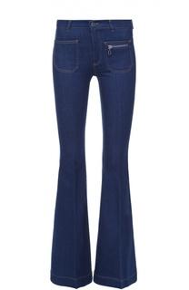 Расклешенные джинсы с контрастной прострочкой Stella McCartney