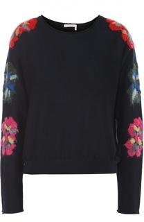 Пуловер с круглым вырезом и цветочной вышивкой Chloé