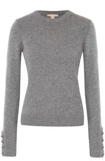 Кашемировый пуловер с декоративными пуговицами Michael Kors