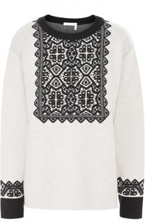 Пуловер прямого кроя с контрастной отделкой Chloé