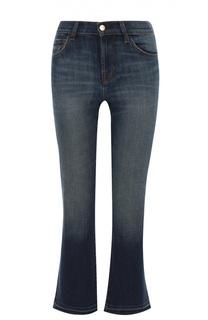 Укороченные расклешенные джинсы с бахромой J Brand