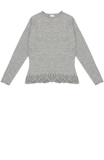 Пуловер с круглым вырезом и длинным рукавом Kuxo Cashmere